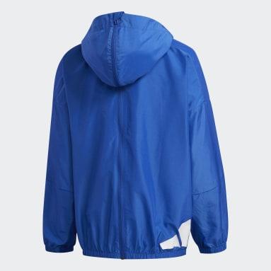 Kids Training Blue Lightweight Jacket