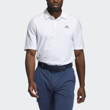 Men Golf White HEAT.RDY 3-Stripes Polo Shirt