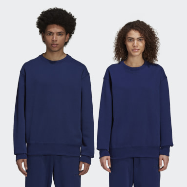 Originals Blå Pharrell Williams Basics Crew kønsneutral sweatshirt