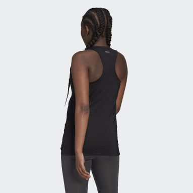Women Gym & Training Black AEROREADY Designed 2 Move Sport Tank Top (Maternity)