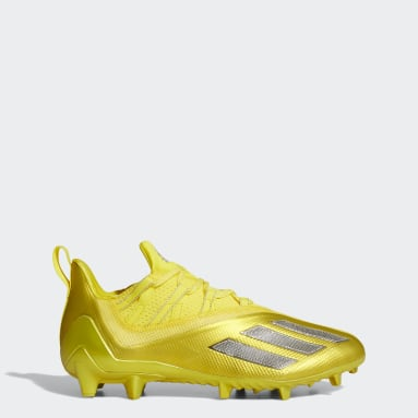 Men's Football Yellow Adizero 11.0 Turbo Fuel Football Cleats