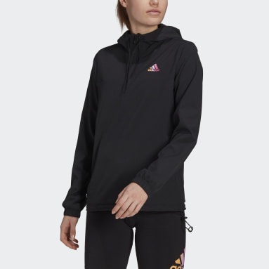 Women Sportswear Black Essentials Gradient Anorak Windbreaker