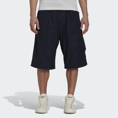 Men Y-3 Blue Y-3 Classic Light Ripstop Utility Shorts