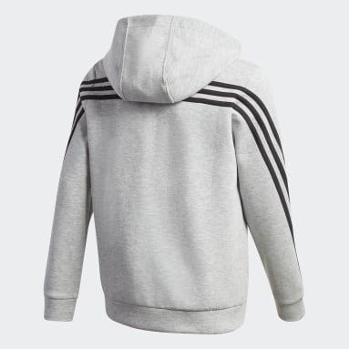серый Толстовка 3-Stripes