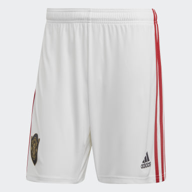 Men Football White Manchester United Home Shorts