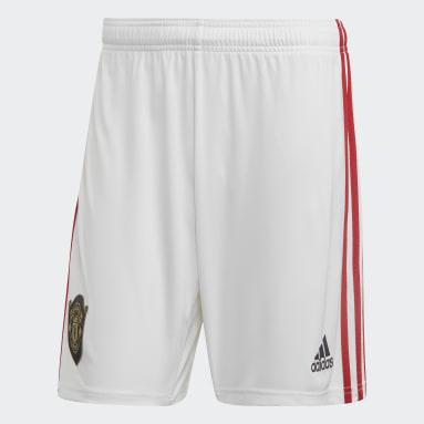 Shorts Uniforme Titular Manchester United Blanco Hombre Fútbol