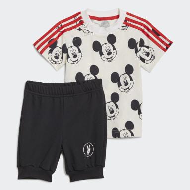 Conjunto de Verão Mickey Mouse Disney Branco Rapazes Ginásio E Treino