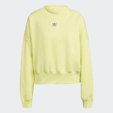 Women Originals Yellow Adicolor Essentials Fleece Sweatshirt