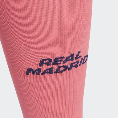 Fodbold Pink Real Madrid 20/21 udebanestrømper
