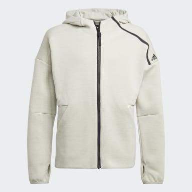 Boys Gym & Training Grey adidas Z.N.E. Sportswear Hoodie Feat. Fast-Release Zipper