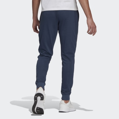 Men Sportswear Blue Essentials Logo Joggers