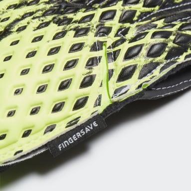 Guantes portero Predator 20 Match Fingersave Verde Niño Fútbol