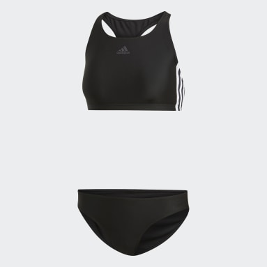 Women Swimming Black 3-Stripes Bikini