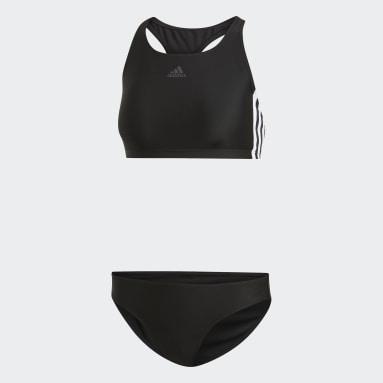 Dames Zwemmen Zwart 3-Stripes Bikini