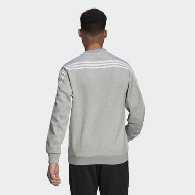 Men Sportswear Grey adidas Sportswear 3-Stripes Sweatshirt