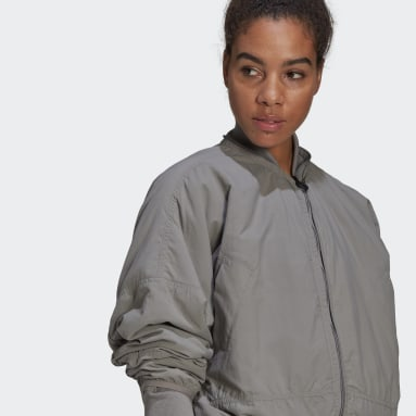 Dam adidas by Stella McCartney Grå adidas by Stella McCartney Woven Bomber Jacket