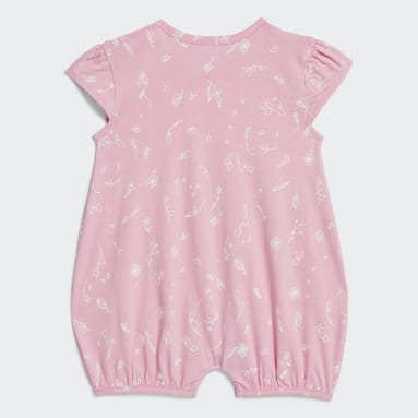 Infant & Toddler Training Pink Shortie Print Rompers
