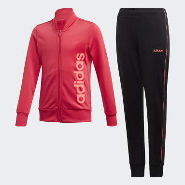 Youth 8-16 Years Gym & Training Pink Tracksuit