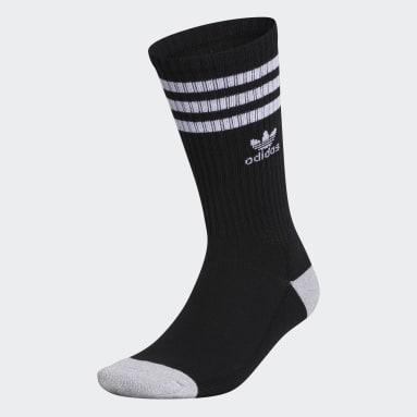 Men's Originals Black Recycled Roller Crew Socks