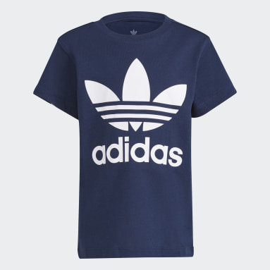 Çocuklar Originals Mavi Trefoil Tişört