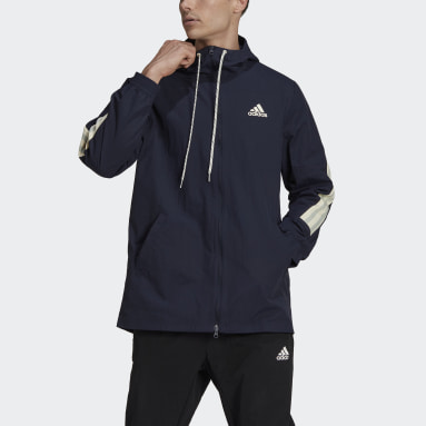 Men Sportswear Blue adidas Sportswear 3-Stripes Tape Jacket