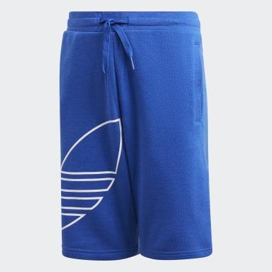 Kids Originals Blue Large Trefoil Shorts