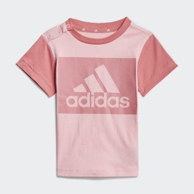 Conjunto de camiseta y pantalón corto Essentials Rosa Niño Sportswear