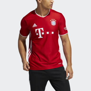 Men's Soccer Red FC Bayern 20/21 Home Jersey