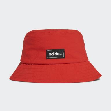 Sport Inspired สีแดง หมวกปีกรอบทรงคลาสสิก