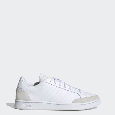 Essentials White Grand Court SE Shoes