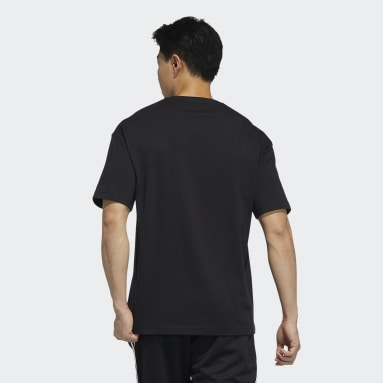 Men Sportswear Black Embroidered Tee