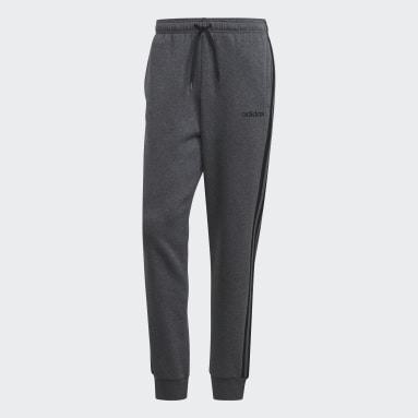 Heren Sportswear Grijs Essentials 3-Stripes Tapered Cuffed Broek