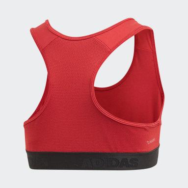 Mädchen Yoga Alphaskin Sport-BH Weinrot