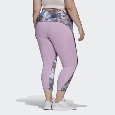 Women's Essentials Purple adidas x Zoe Saldana AEROREADY 7/8 Tights (Plus Size)