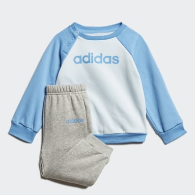 Kids Sportswear Blue Linear Fleece Jogger Set