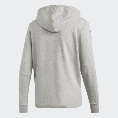 Campera Must Haves French Terry 3 rayas Gris Hombre Sportswear