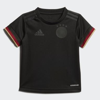 Kinderen Voetbal Zwart Duitsland Baby-Uittenue
