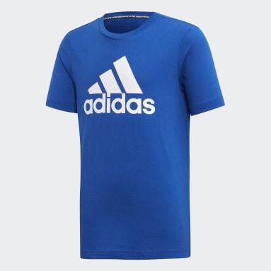 Jongens Yoga Blauw Must Haves  Badge of Sport T-shirt