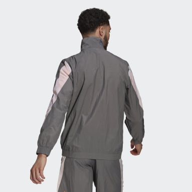 Men's Sportswear Grey adidas Sportswear Mesh Pop Track Top