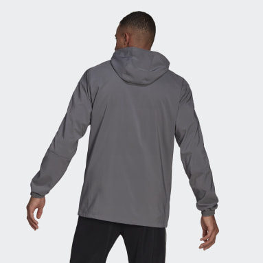 Men's Lifestyle Grey Tiro 21 Windbreaker