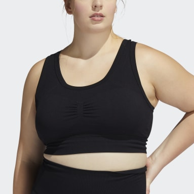 Women Yoga Black Studio Bra (Plus Size)