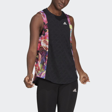 Camiseta sin mangas Own The run Floral Negro Mujer Running