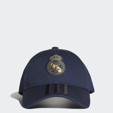 Fußball Real Madrid 3-Streifen Kappe Blau