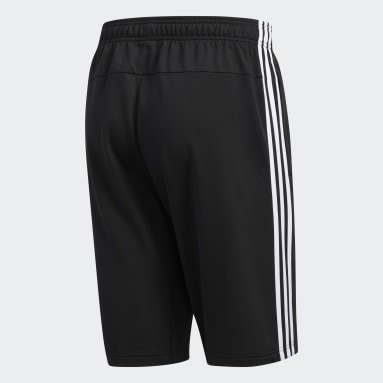 Men's Running Black Essentials 3-Stripes Shorts
