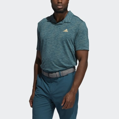 Men Golf Mesh Broken-Stripe Polo Shirt