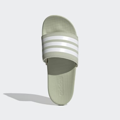 Women Swimming Green Adilette Comfort Slides