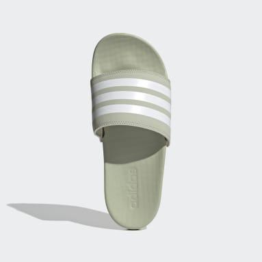 Women's Yoga Green Adilette Comfort Slides