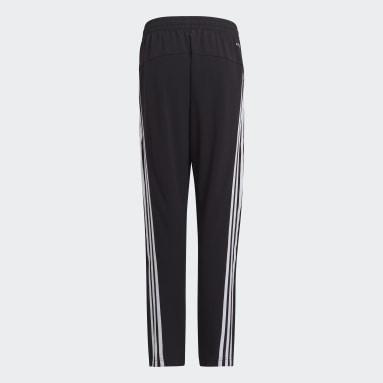 Boys Training Black AEROREADY Primegreen 3-Stripes Tapered Woven Pants