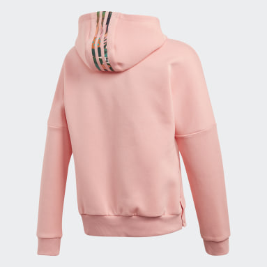 Girls Lifestyle Pink Graphic Hoodie
