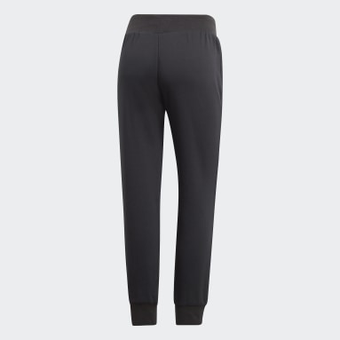 Pantalón Cuffed - Tiro Medio Negro Mujer Originals